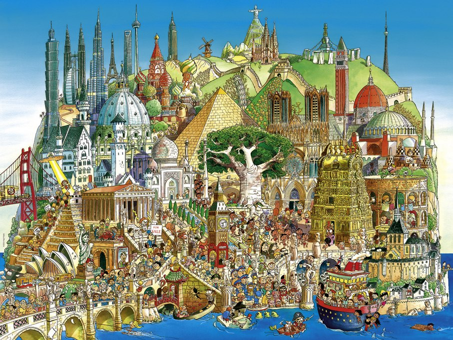 Prades: Global City - 1500pc Jigsaw Puzzle By Heye  			  					NEW