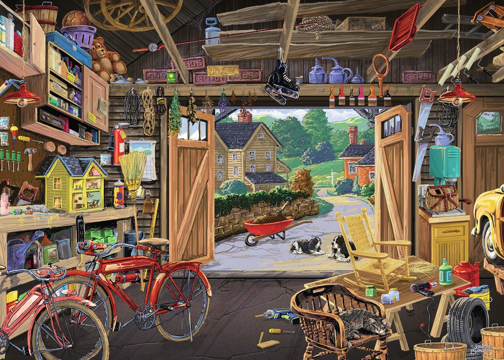 Grandpa's Garage - 300pc Large Format by Ravensburger