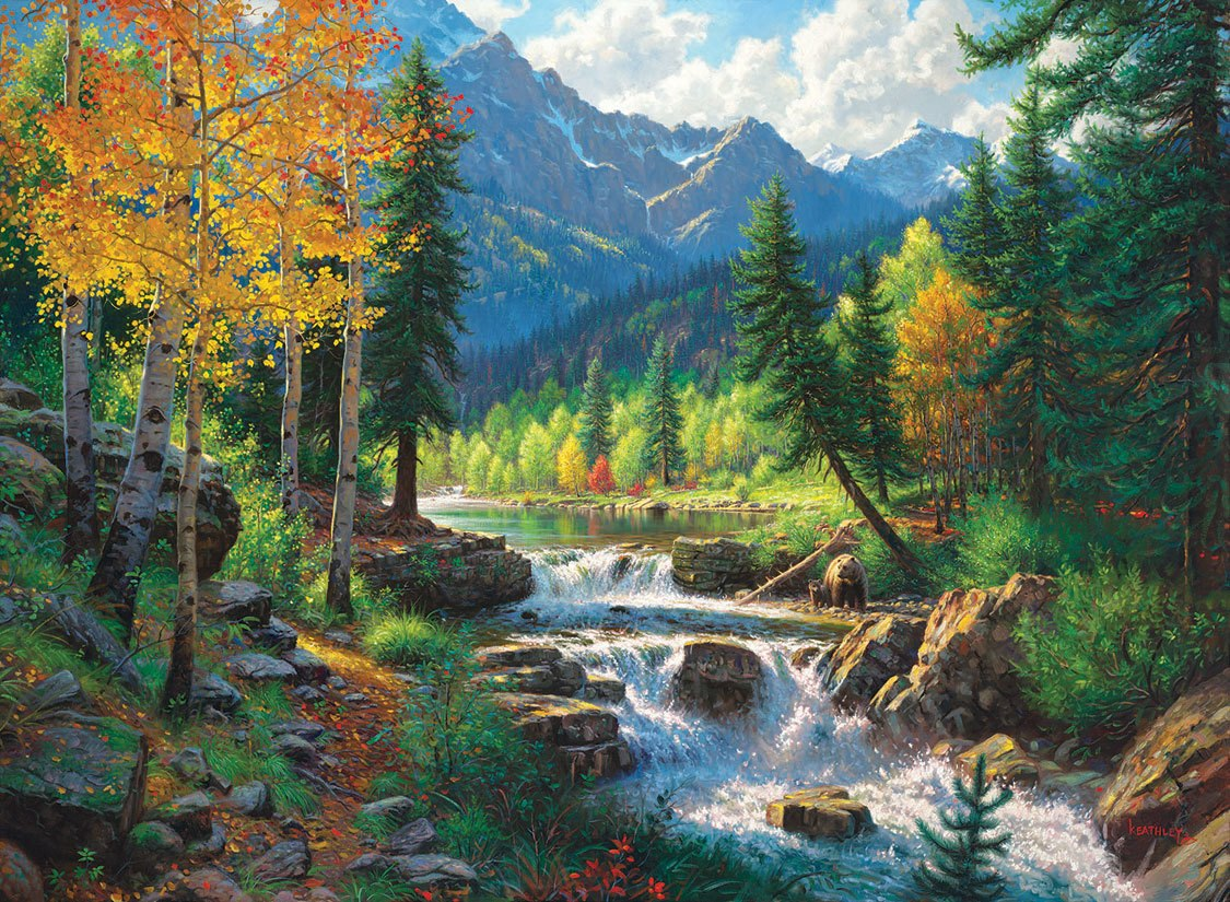 Mountain Medley - 1000+pc Large Format Jigsaw Puzzle by SunsOut