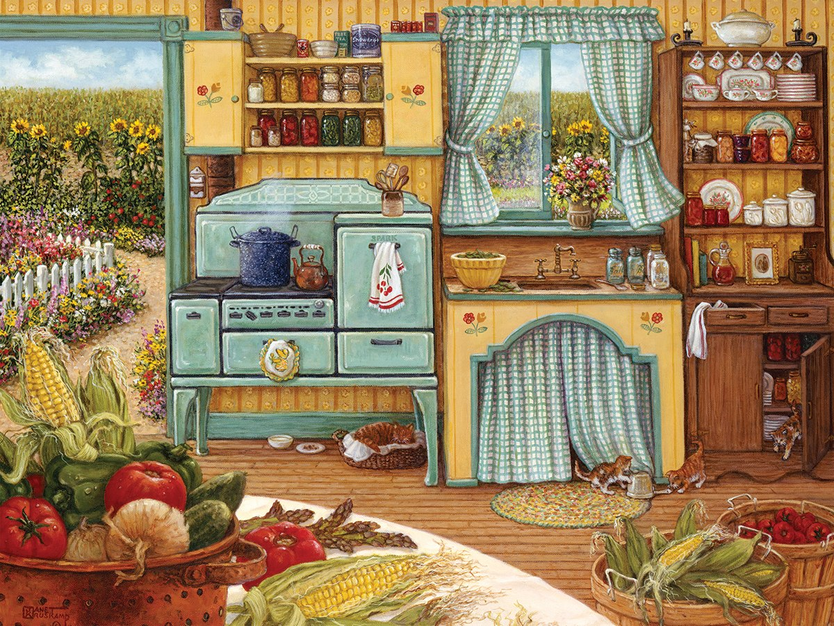 Country Kitchen - 1000pc Jigsaw Puzzle By White Mountain