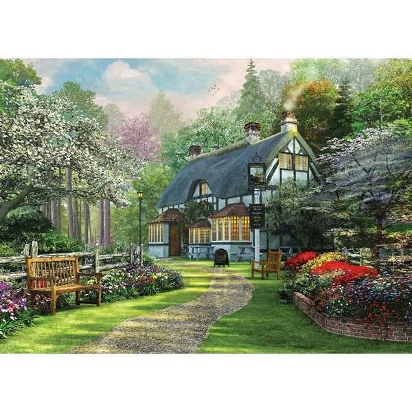 Picture Perfect III: The Cottage Pub - 1000pc Jigsaw Puzzle by Holdson  			  					NEW