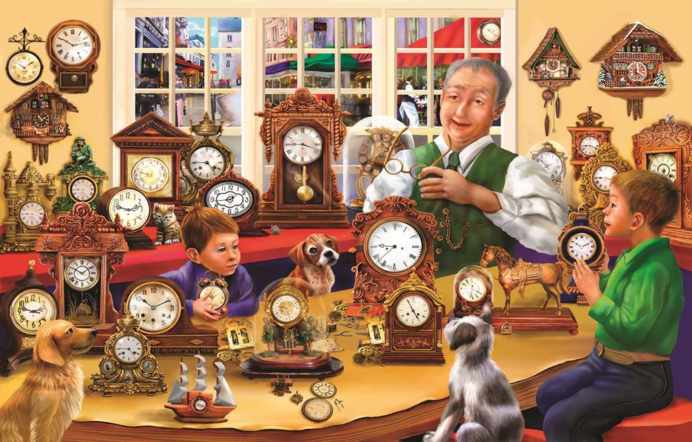The Clock Shop - 1000pc Jigsaw Puzzle By Sunsout  			  					NEW