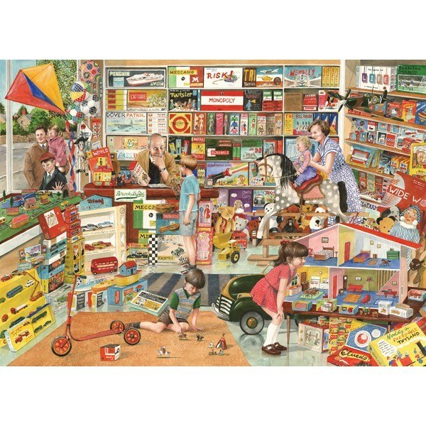 Times Past: The Toy Shop - 1000pc Jigsaw Puzzle by Holdson  			  					NEW