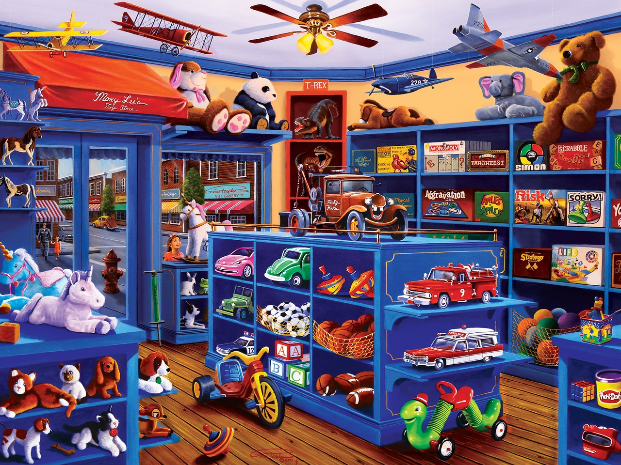 Mary Lee's Toy Store - 750pc Jigsaw Puzzle by Masterpieces  			  					NEW