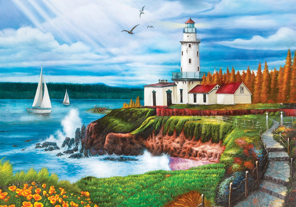 Lighthouse Cove - 1000pc Jigsaw Puzzle by Lafayette Puzzle Factory