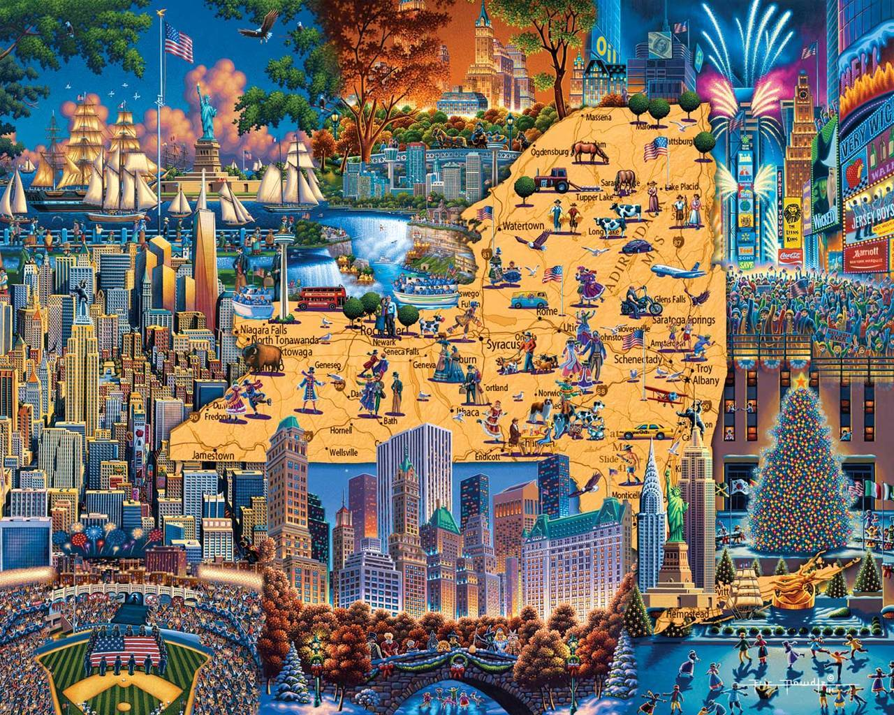 Best of New York - 500pc Jigsaw Puzzle by Dowdle  			  					NEW