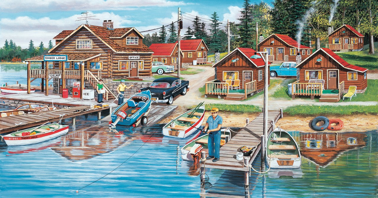 Timber Lodge - 300pc Jigsaw Puzzle by Sunsout  			  					NEW