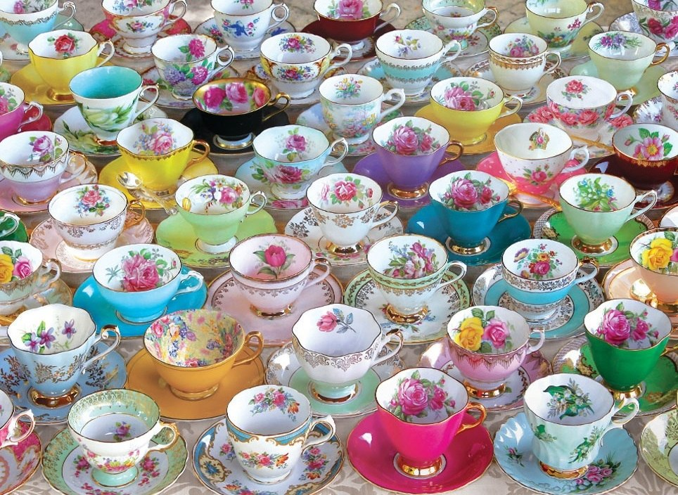 Tea Cups Collection - 1000pc Jigsaw Puzzle by Eurographics  			  					NEW