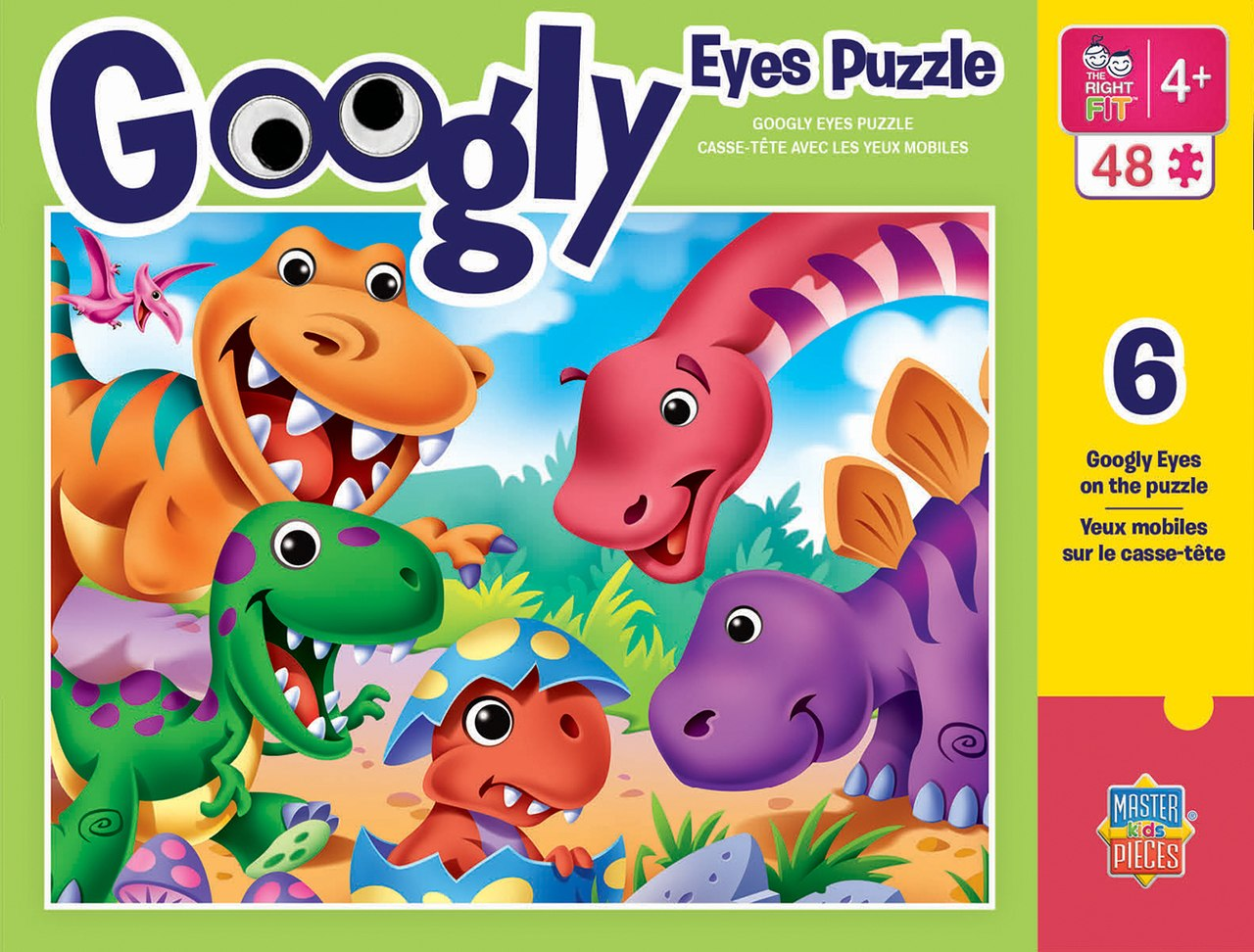 Googly Eyes: Dinosaurs - 48pc Jigsaw Puzzle by Masterpieces  			  					NEW - image 1