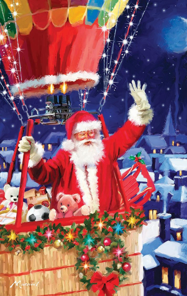 Santa's Balloon - 550pc Jigsaw Puzzle by SunsOut