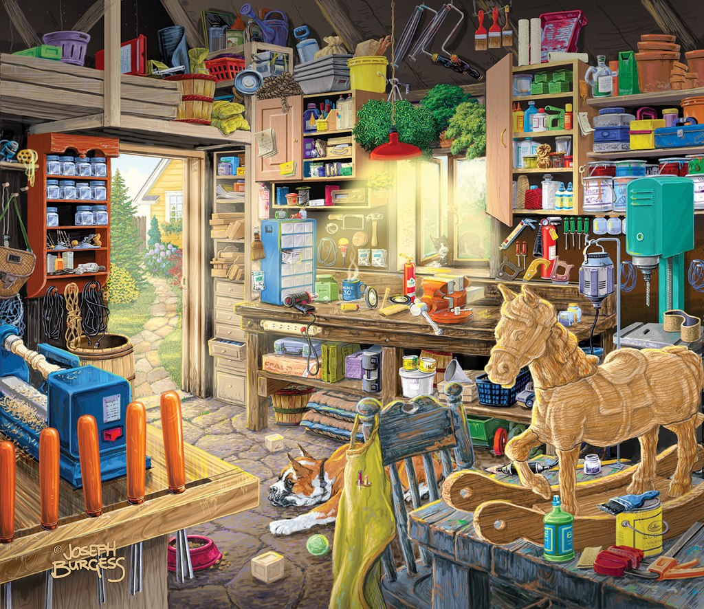 Pap Pap's Tool Shed - 550pc Jigsaw Puzzle by SunsOut
