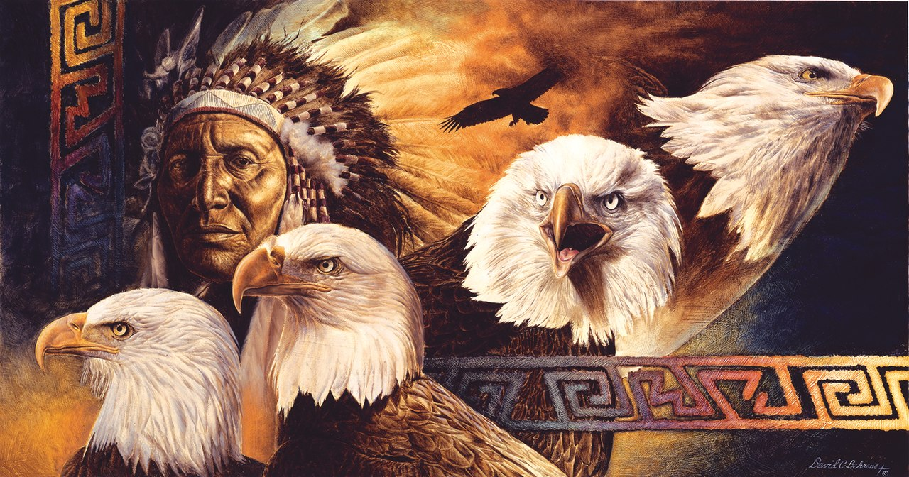 Lakota Twilight - 500pc Jigsaw Puzzle By Sunsout  			  					NEW