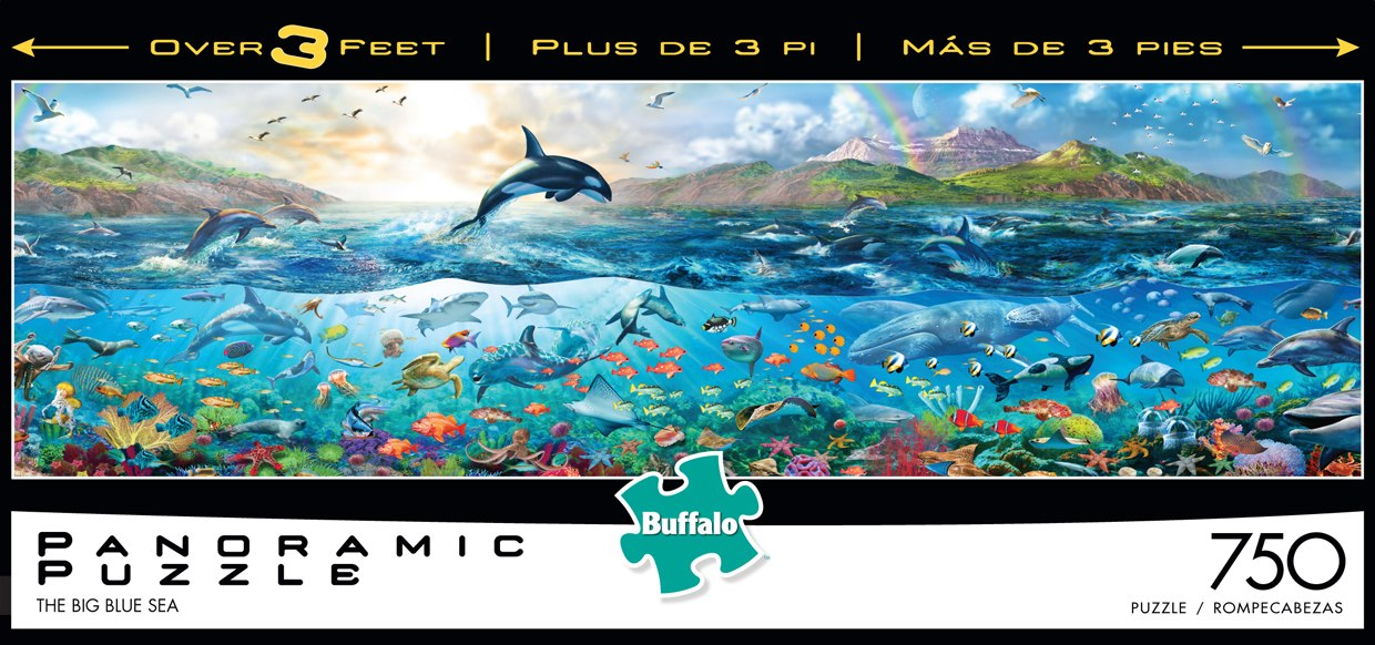 Panoramic: The Big Blue Sea - 750pc Panoramic Puzzle by Buffalo Games
