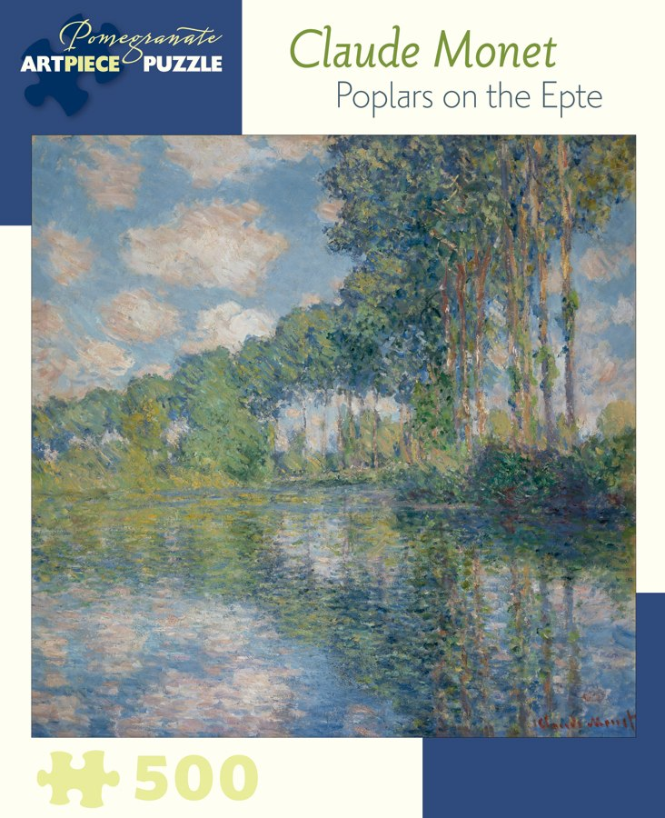 Monet: Poplars on the Epte - 500pc Jigsaw Puzzle by Pomegranate