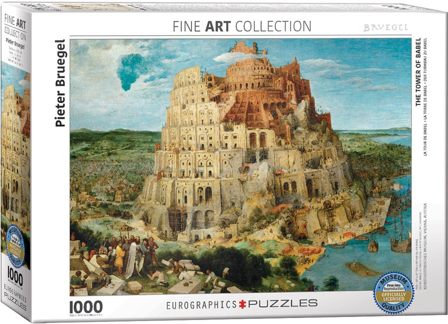 Tower of Babel / Pieter Bruegel - 1000pc Jigsaw Puzzle by Eurographics