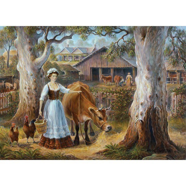 Redgum Ranges: Ready for Milking - 1000pc Jigsaw Puzzle by Holdson  			  					NEW