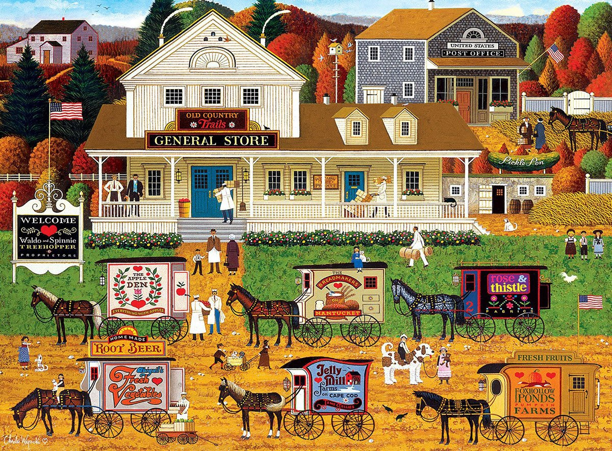 Charles Wysocki: Storin' Up - 1000pc Jigsaw Puzzle by Buffalo Games  			  					NEW