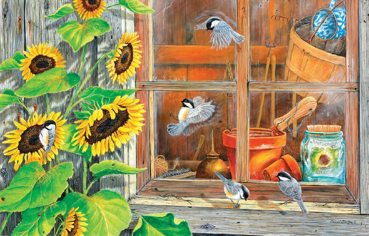 Potting Shed - 15pc Jigsaw Puzzle by Sunsout  			  					NEW