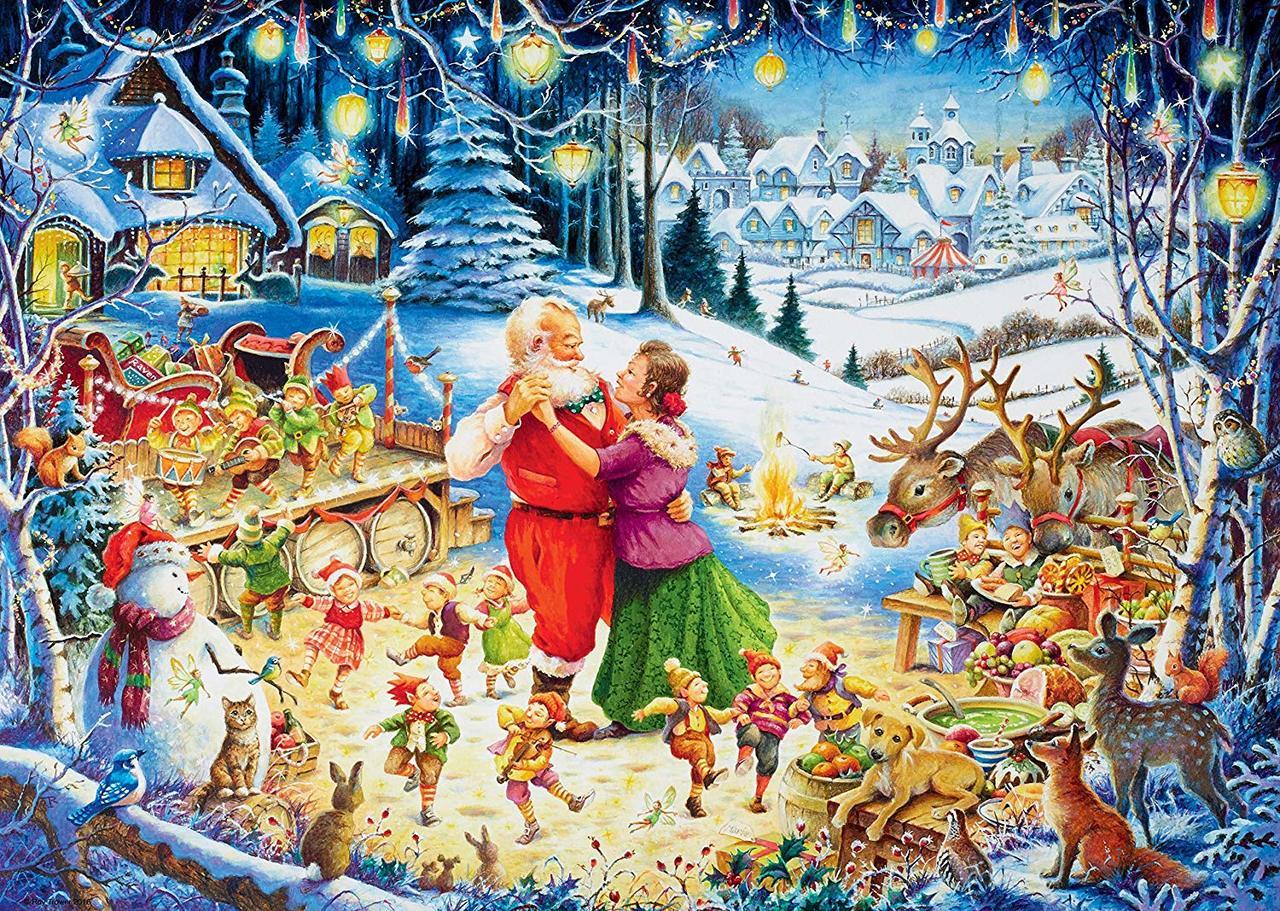 Santa's Christmas Party - 1000pc Jigsaw Puzzle By Ravensburger  			  					NEW