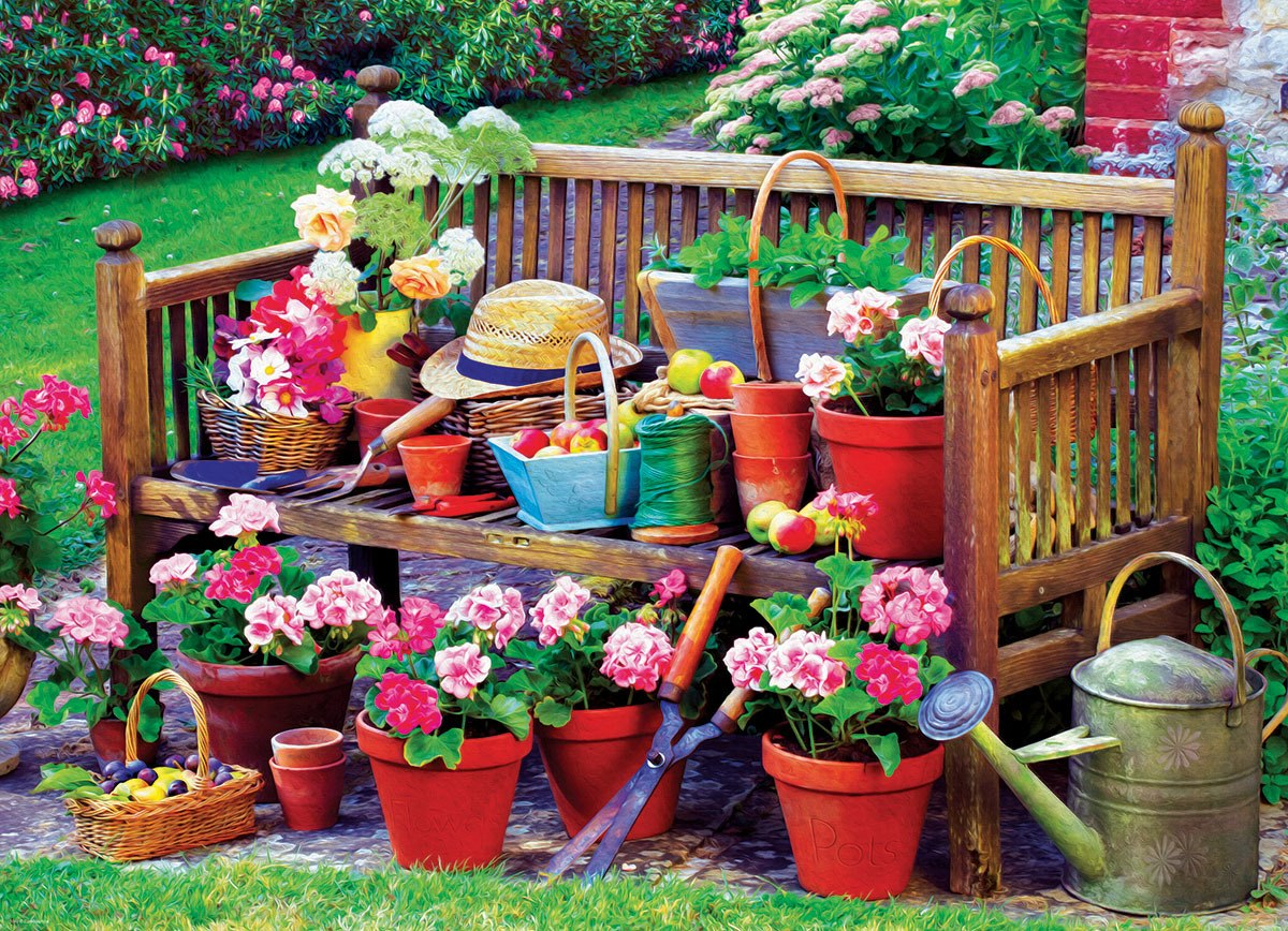Garden Bench - 1000pc Jigsaw Puzzle by Eurographics  			  					NEW