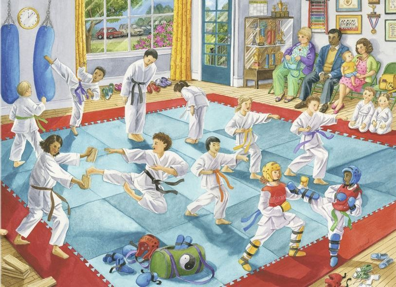 Martial Arts Class - 100pc Jigsaw Puzzle By Ravensburger