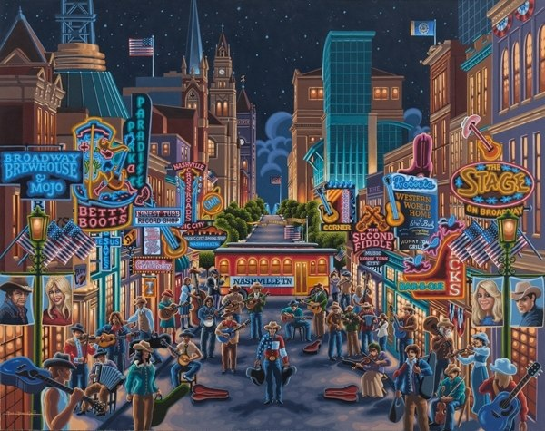 Nashville - 500pc Jigsaw Puzzle by Dowdle