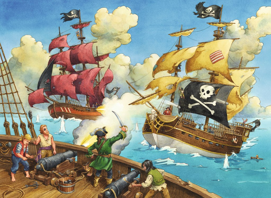 Pirate Battle  - 100pc Jigsaw Puzzle by Ravensburger