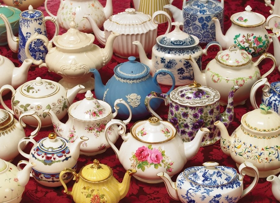 Teapots - 1000pc Jigsaw Puzzle By Cobble Hill  			  					NEW