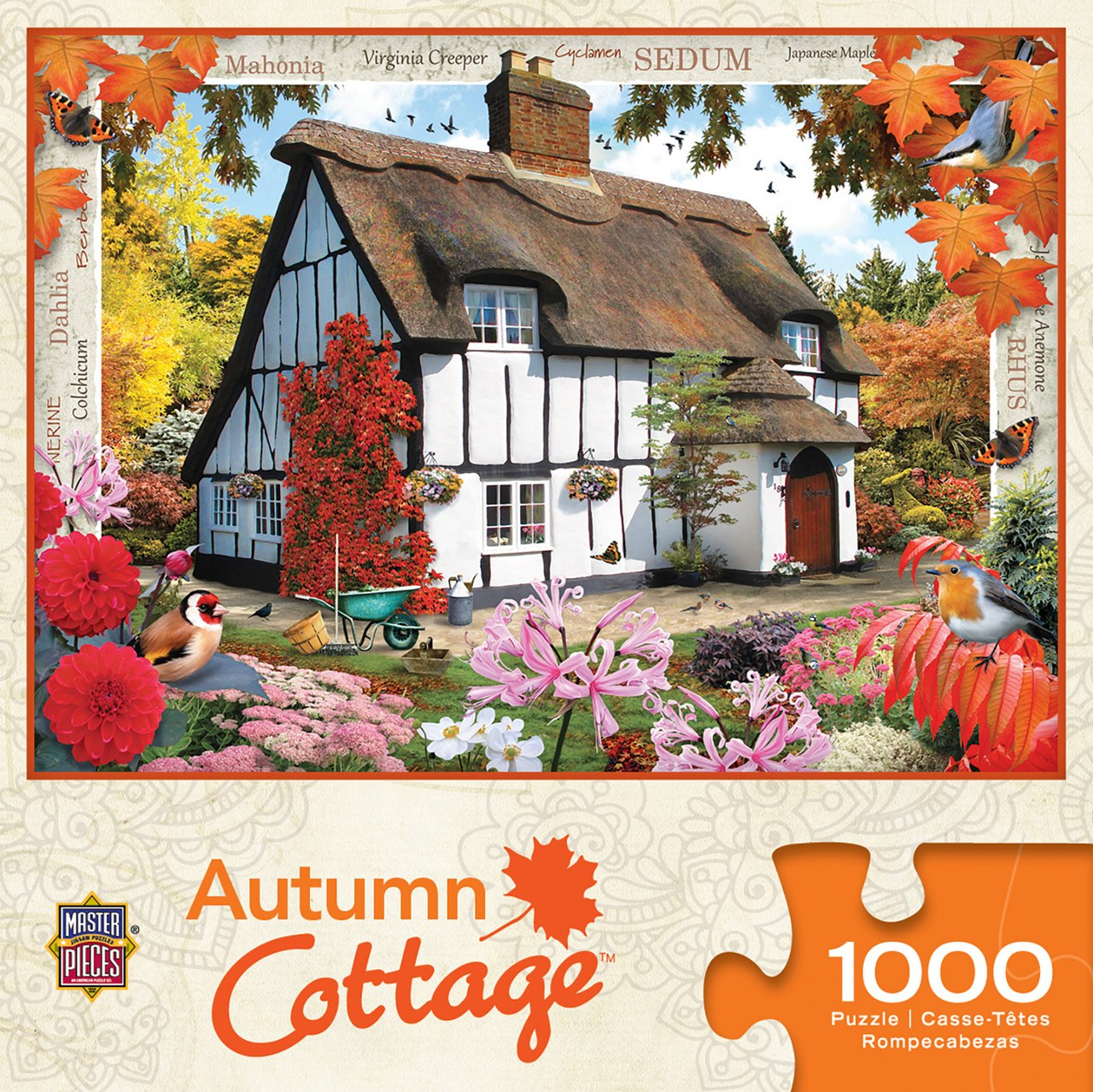 Autumn Cottage - 1000pc Jigsaw Puzzle by Masterpieces  			  					NEW - image 1