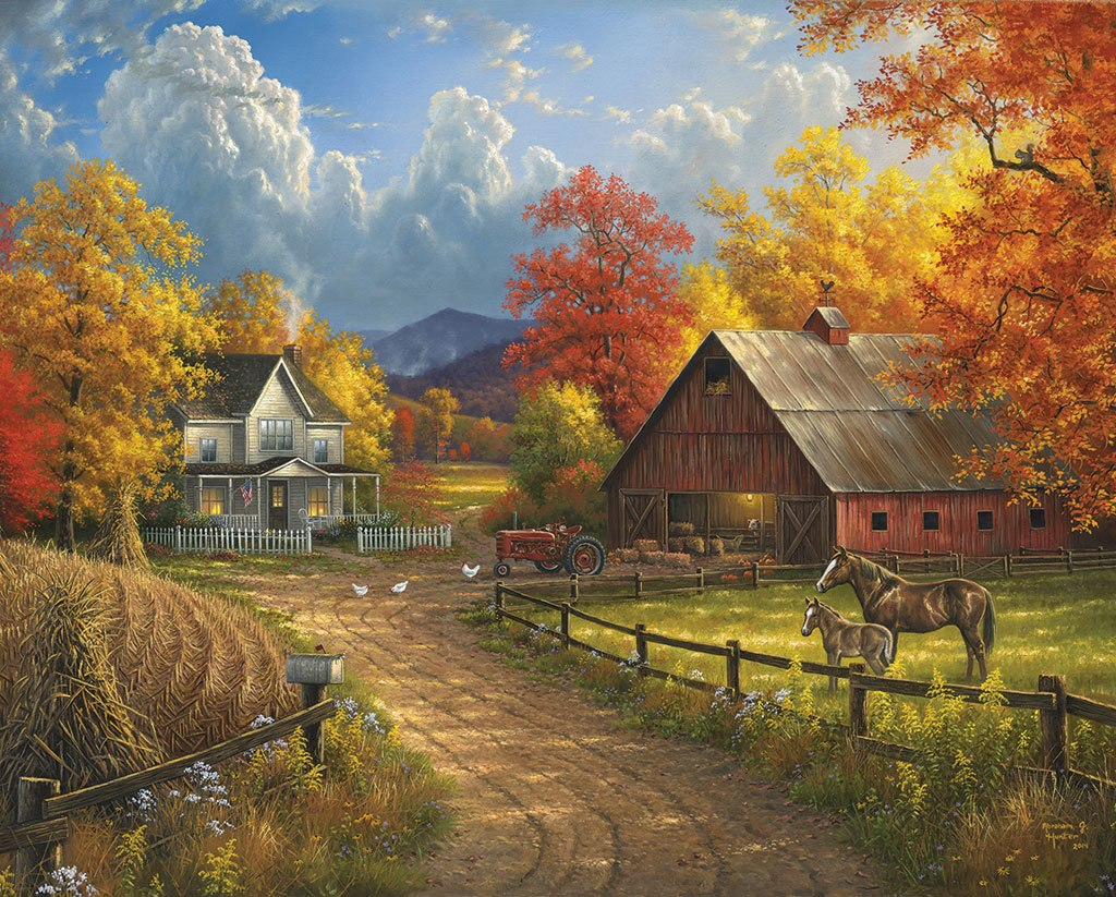 Country Blessings - 1000pc Jigsaw Puzzle by White Mountain