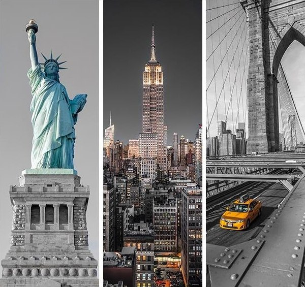 New York Trittico - 3 x 500pc Jigsaw Puzzle MultiPack by Clementoni