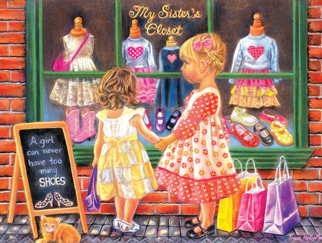 My Sister's Closet - 300pc Large Format Jigsaw Puzzle by SunsOut