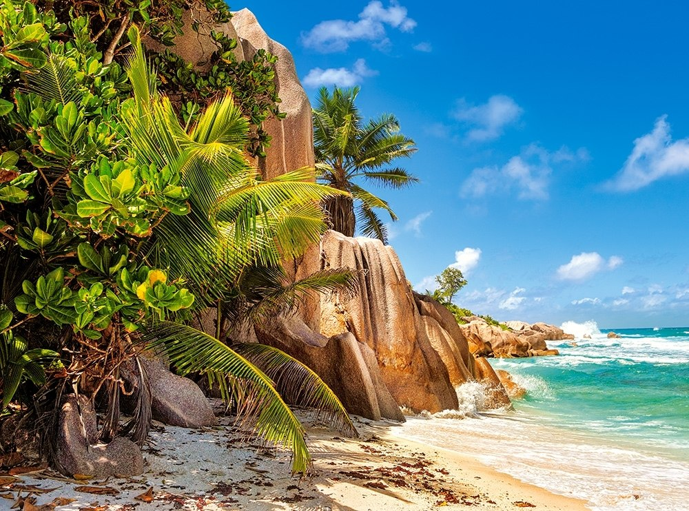 Paradise Beach of Seychelles - 2000pc Jigsaw Puzzle By Castorland  			  					NEW