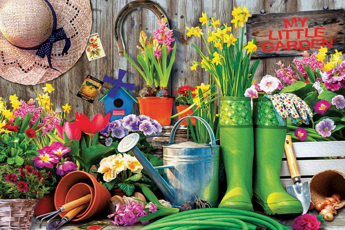 Garden Tools - 1000pc Jigsaw Puzzle by Eurographics  			  					NEW