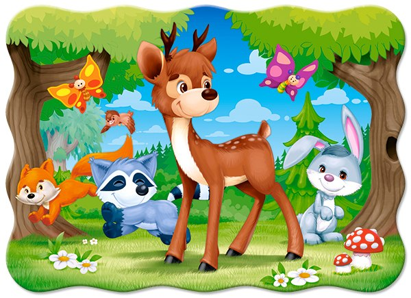 A Deer and Friends - 30pc Jigsaw Puzzle By Castorland