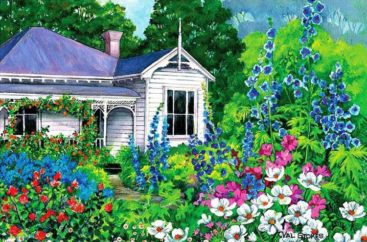 Early Days: Grandma's Garden - 500pc Jigsaw Puzzle by Holdson
