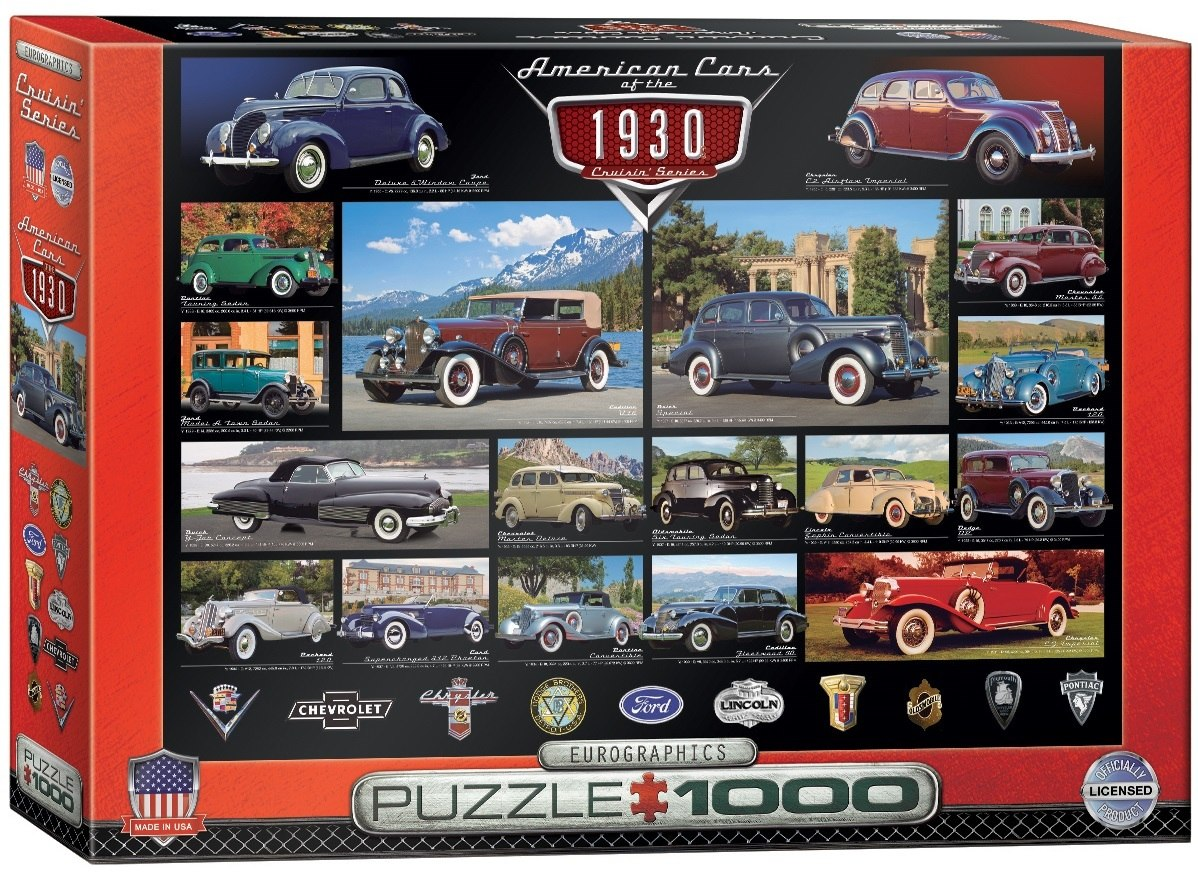 American Cars of the 1930s - 1000pc Jigsaw Puzzle by Eurographics