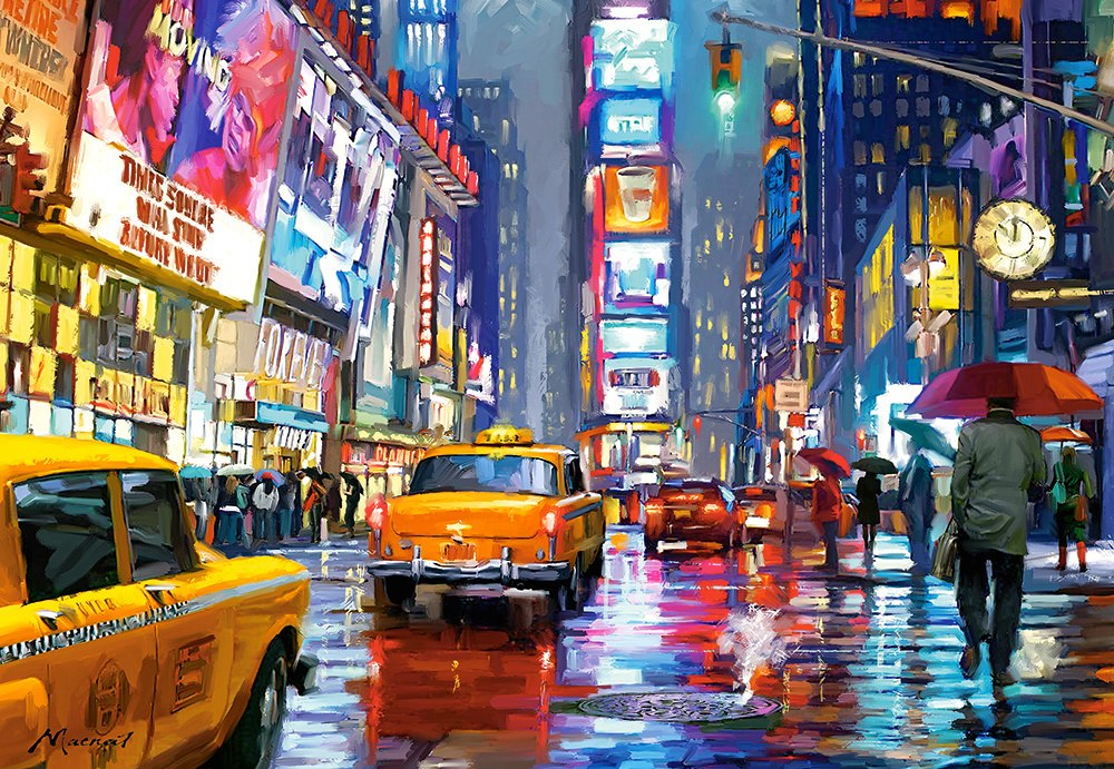 Times Square - 1000pc Jigsaw Puzzle By Castorland  			  					NEW