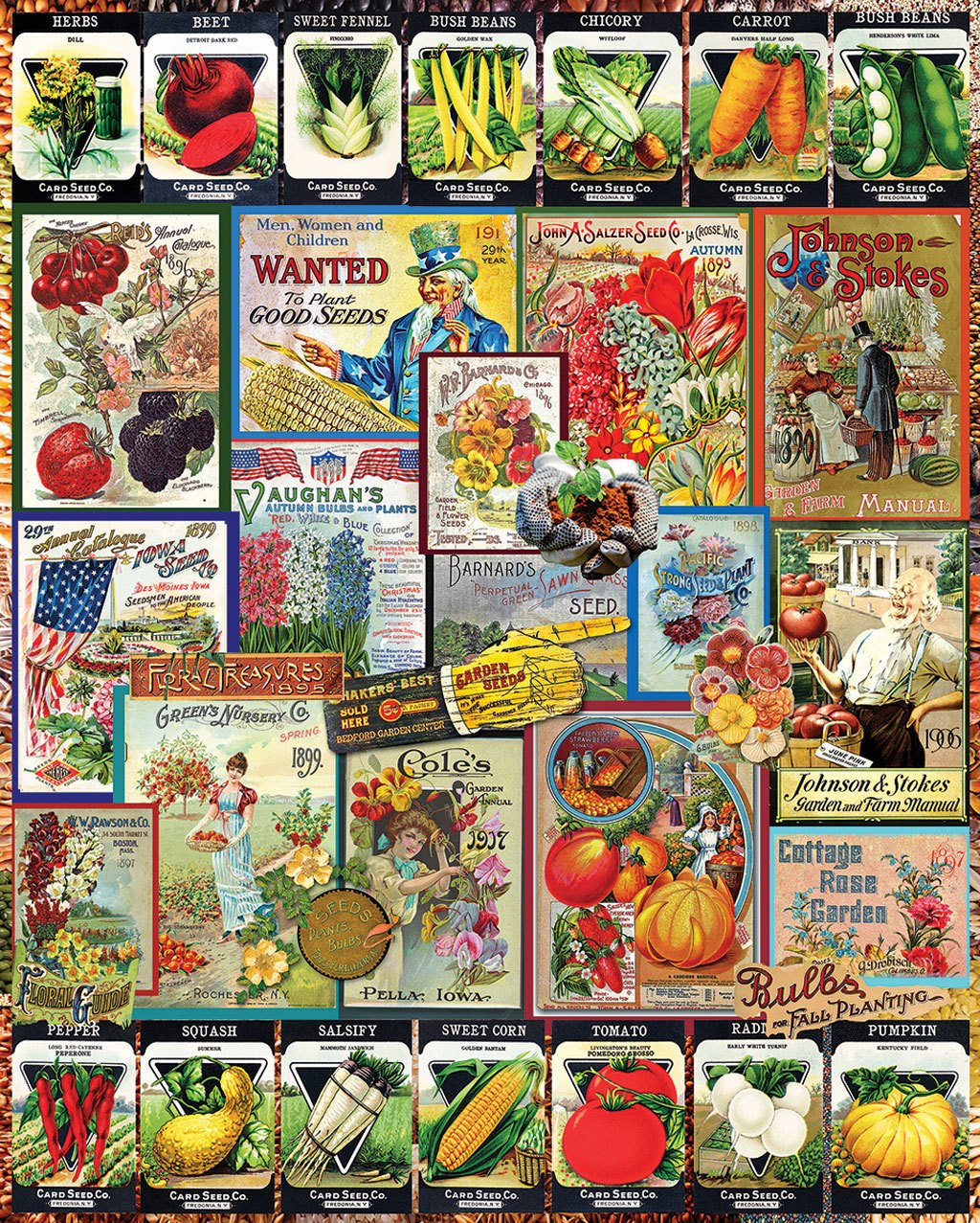 Garden Seeds - 1000pc Jigsaw Puzzle By White Mountain