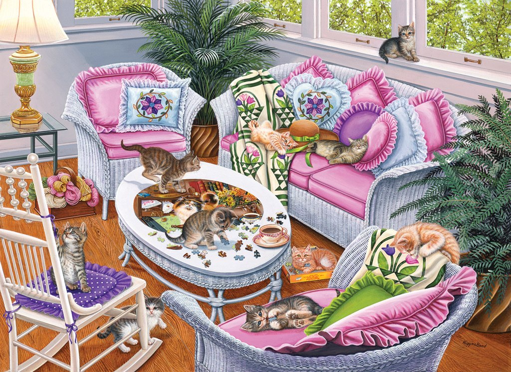 Ten Tabbies - 1000pc Jigsaw Puzzle by SunsOut