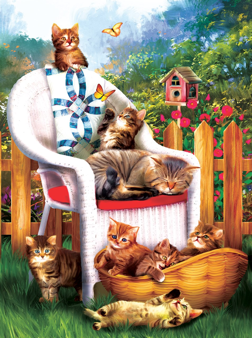 Mama's Cat Nap - 1000pc Jigsaw Puzzle by Sunsout  			  					NEW