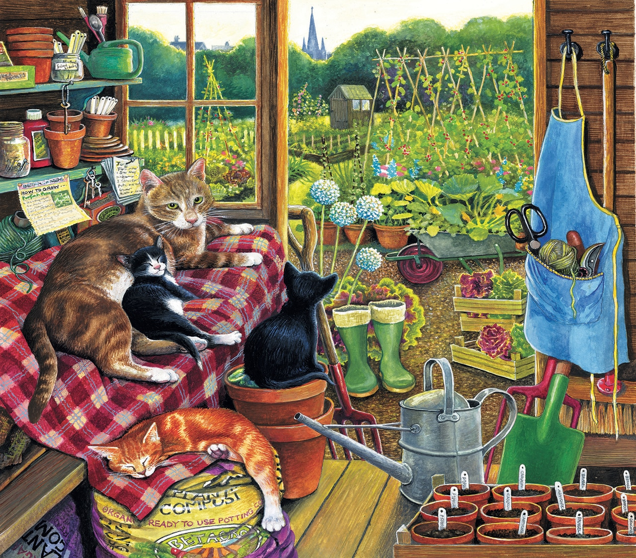 Garden Helpers 300 - 300pc Jigsaw Puzzle By Sunsout  			  					NEW