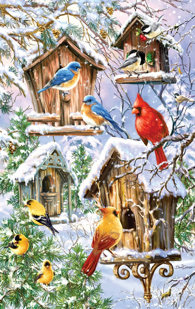 Snow Birds - 550pc Jigsaw Puzzle by Sunsout