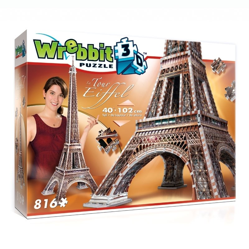 La Tour Eiffel - 816pc 3D Puzzle by Wrebbit