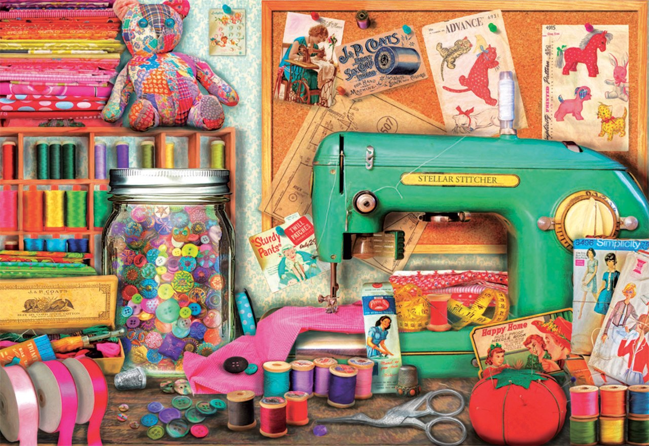 Sewing Corner - 1000pc Jigsaw Puzzle by Educa  			  					NEW