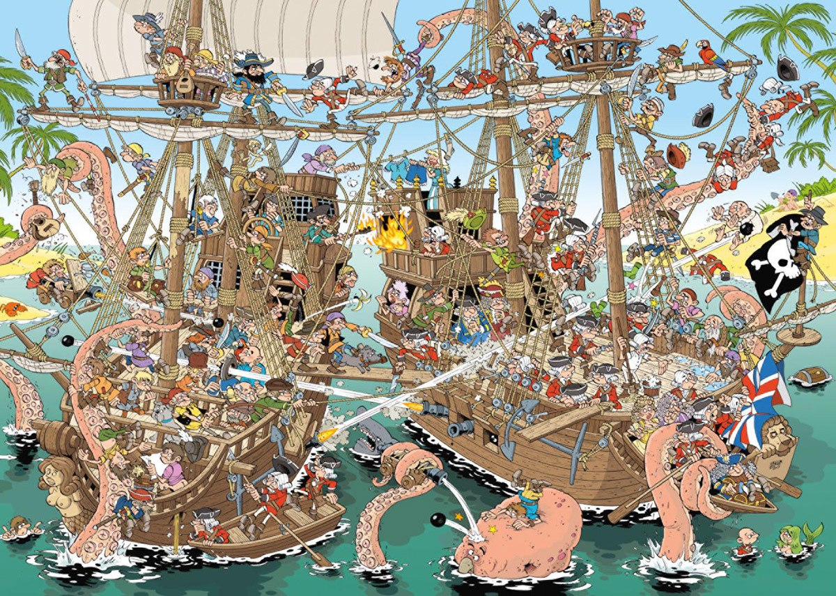Pieces of History: Pirates - 1000pc Jigsaw Puzzle By Jumbo  			  					NEW