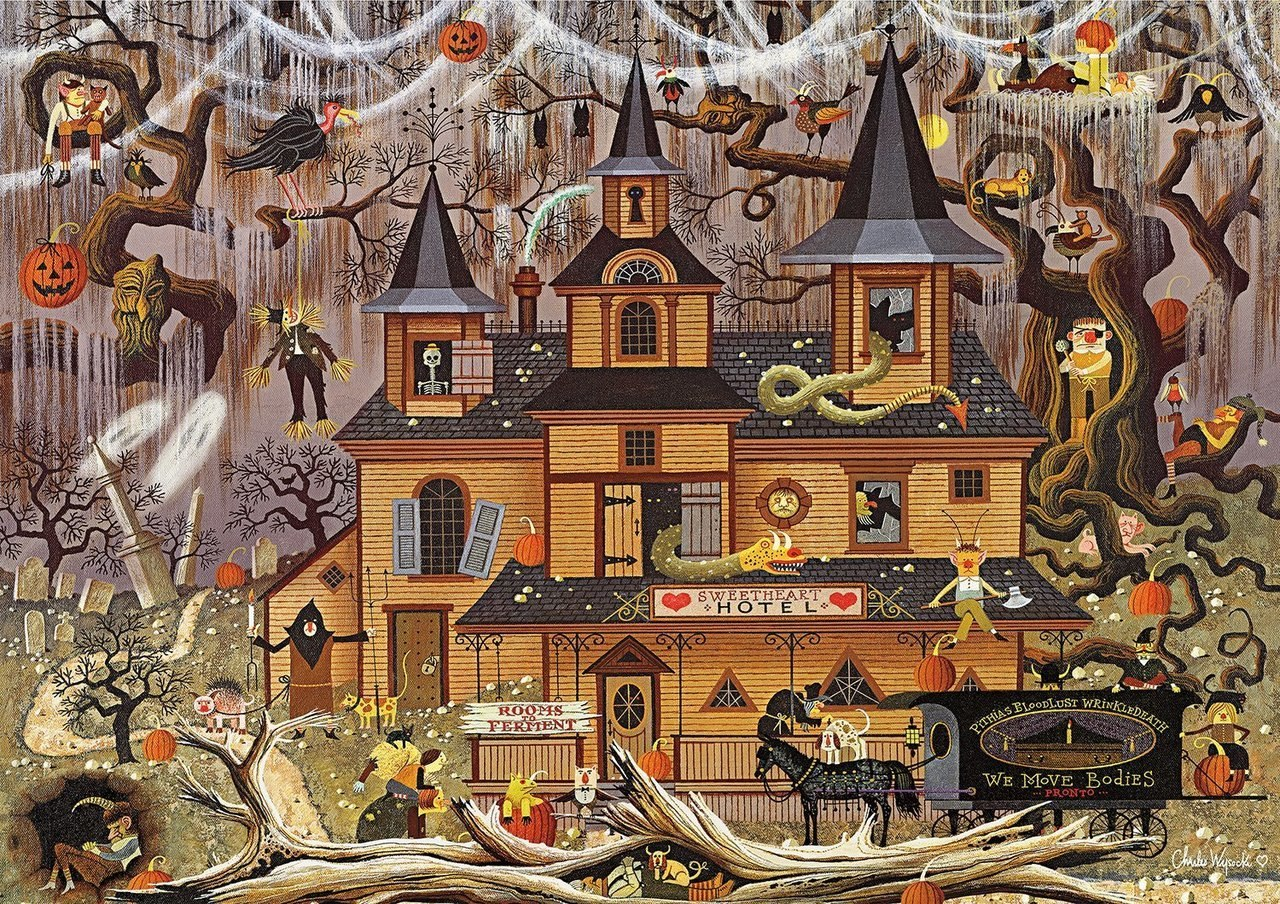 Trick or Treat Hotel - 500pc Jigsaw Puzzle by Buffalo Games
