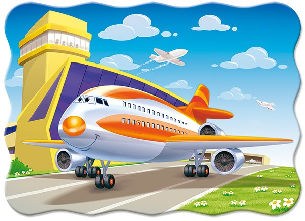 A Plane on the Runway - 30pc Jigsaw Puzzle By Castorland