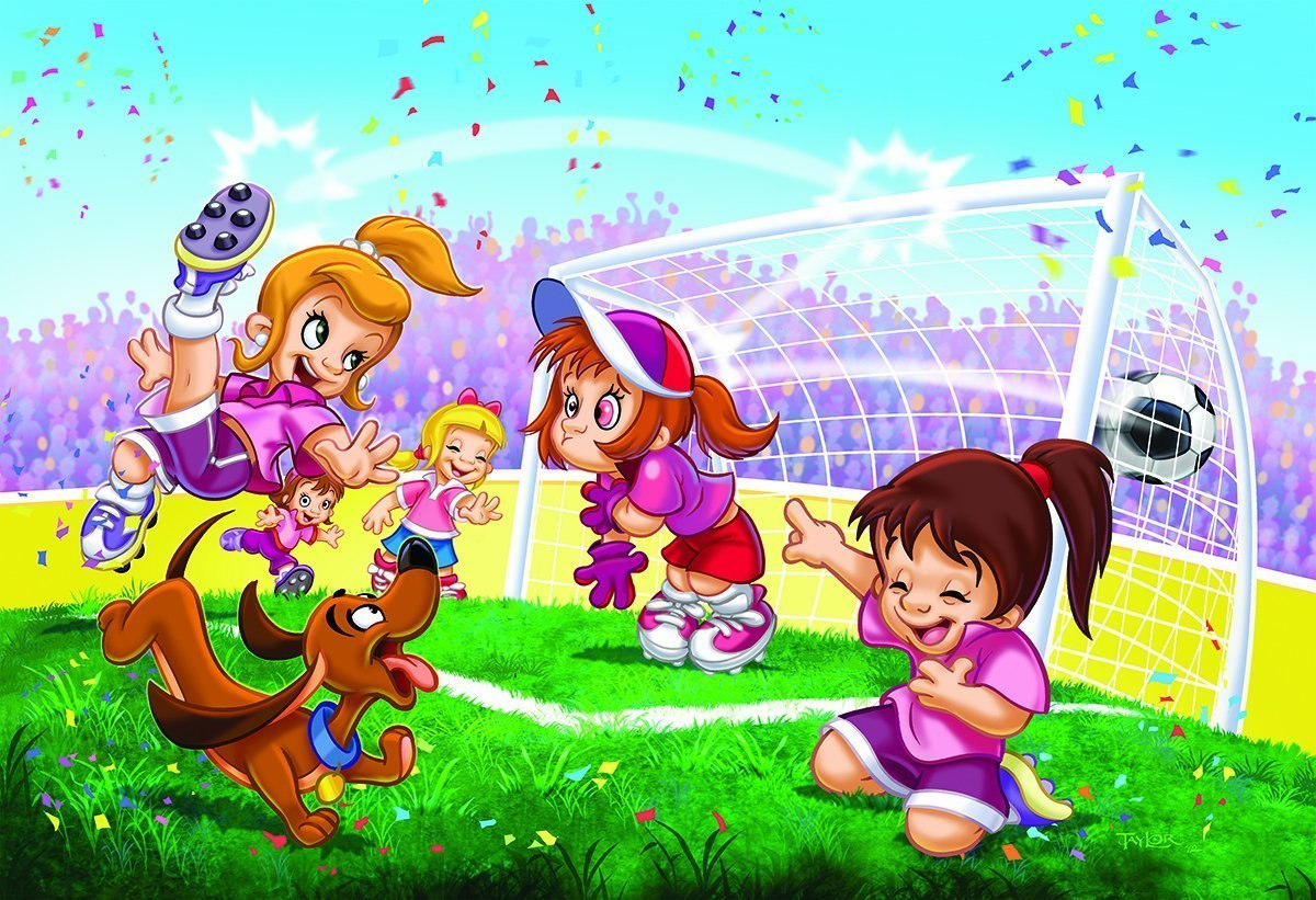 Go Girls Go! Soccer - 100pc Jigsaw Puzzle by Eurographics  			  					NEW