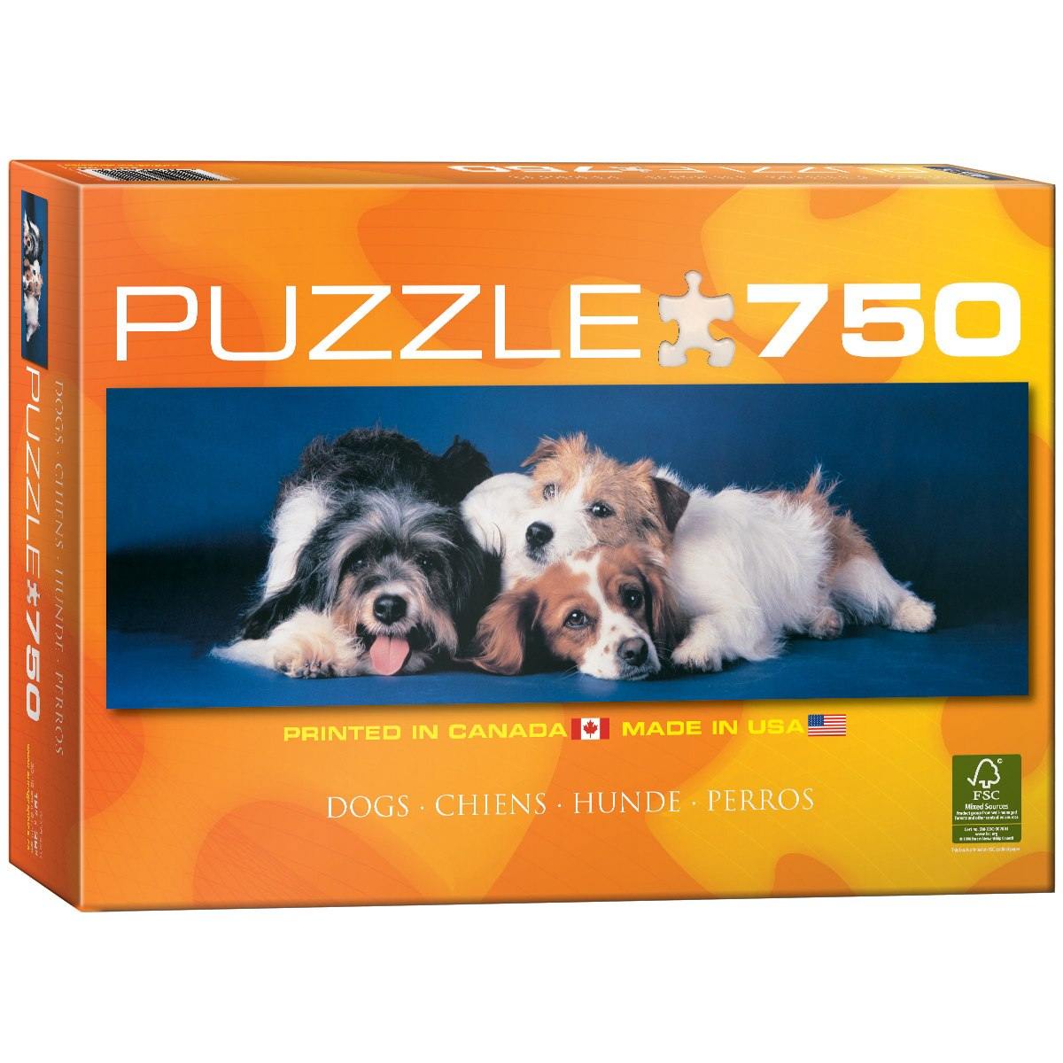 Dogs Puzzle - 750pc Jigsaw Puzzle by Eurographics